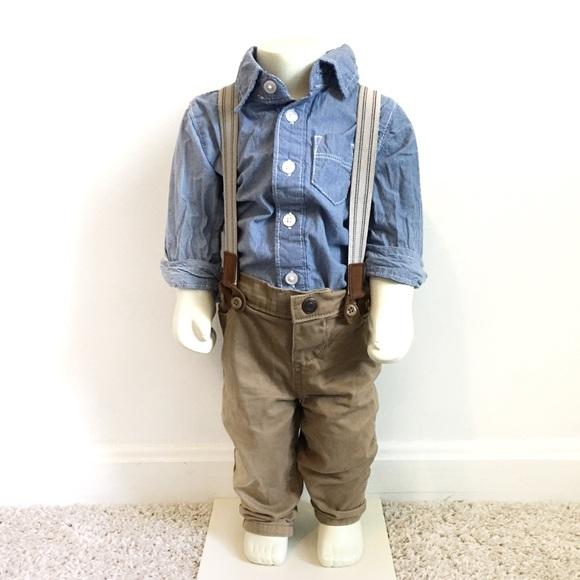 OshKosh B'gosh Other - Oshkosh suspenders outfit 9M